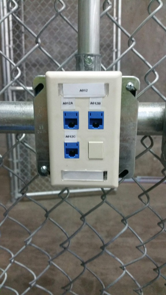 Typical face plate installation