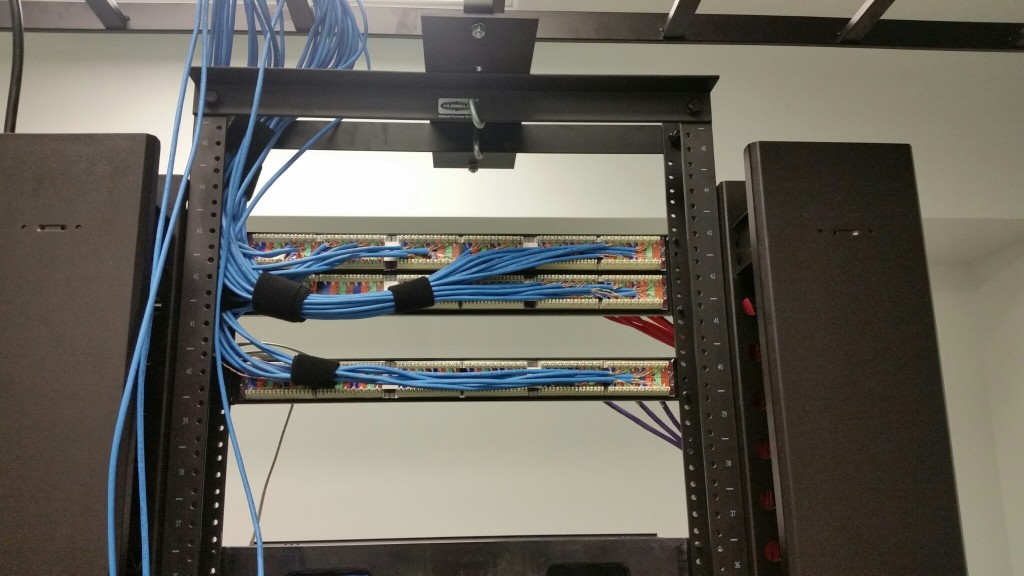 Rear View of patch panel